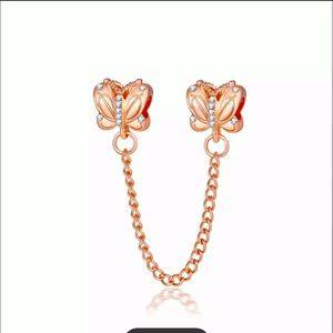 New 925-Charm Safety Chain Fit Necklace Bracelet